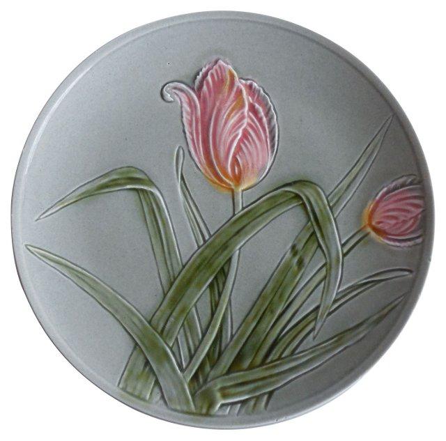 Majolica Tulip Wall Plate