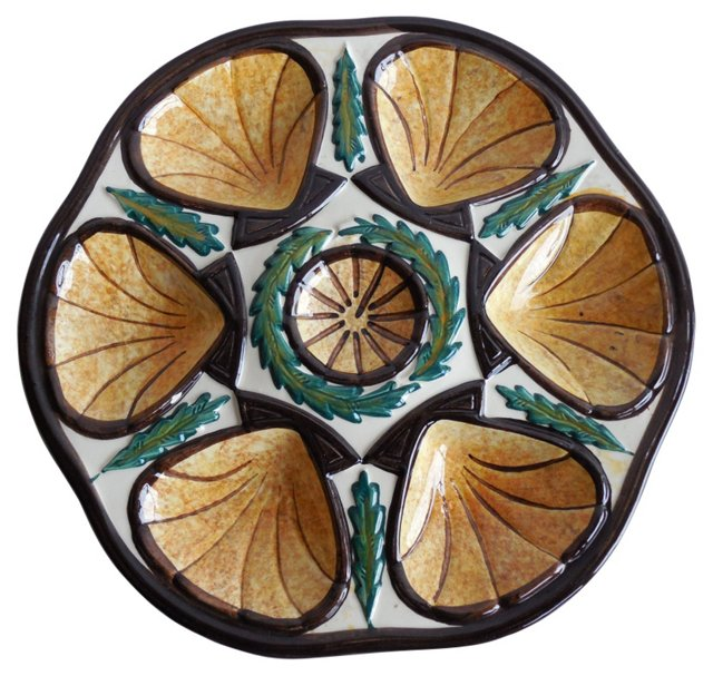 Yellow Oyster Wall Plate