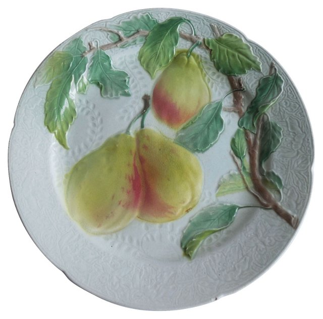 Majolica  Pear Wall  Plate