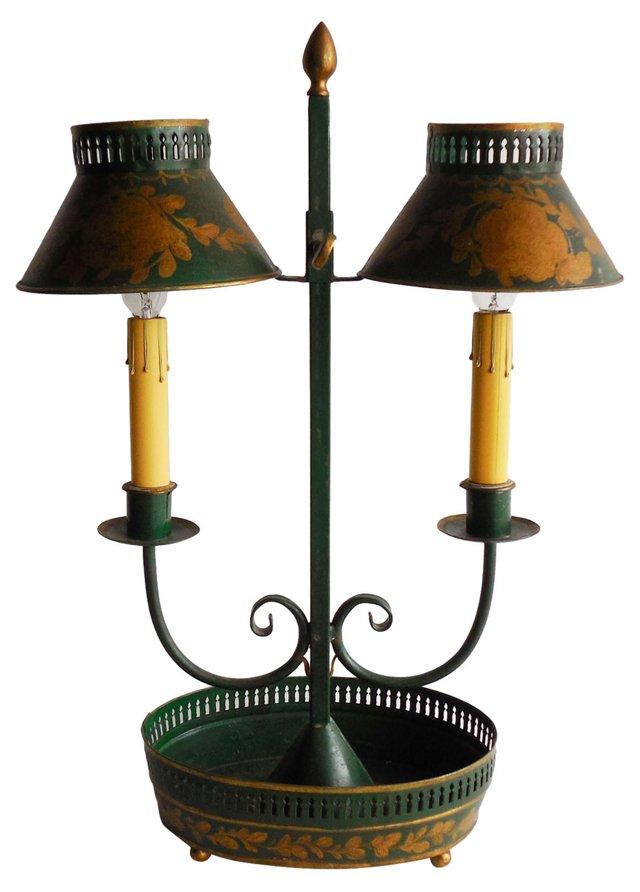 Antique Tole Lamp