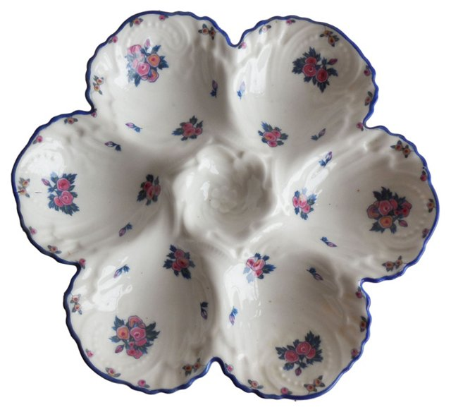 Porcelain Roses Oyster Wall Plate