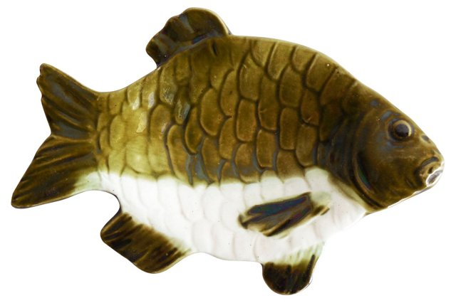 Majolica Fish Dish