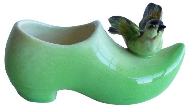 Majolica Green Bird Clog