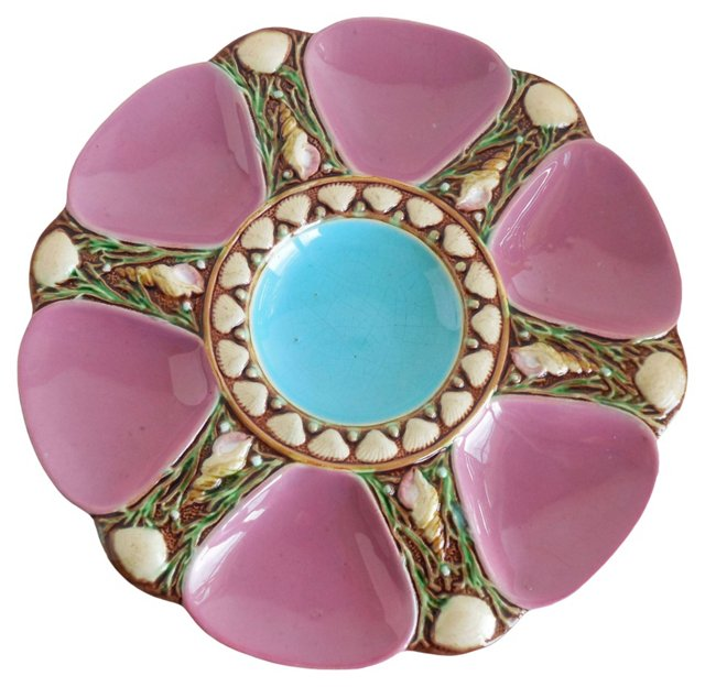 Majolica Pink Oyster   Wall Plate