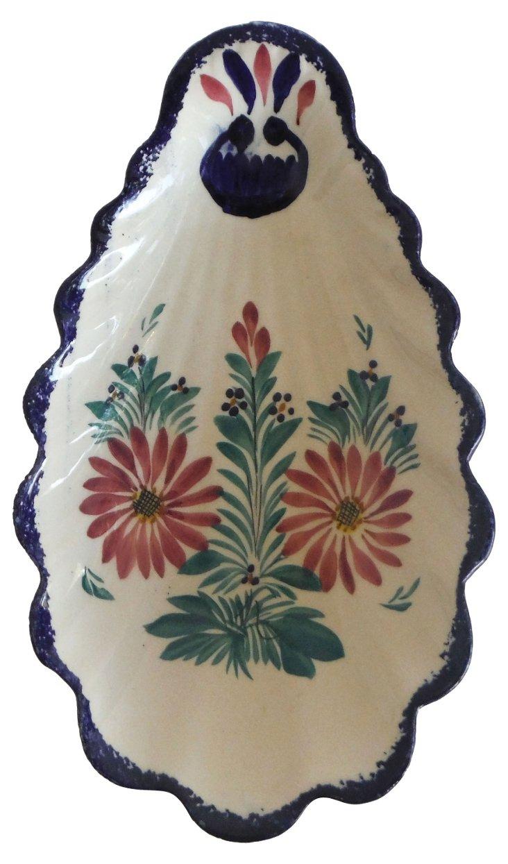Faience Quimper Floral Dish