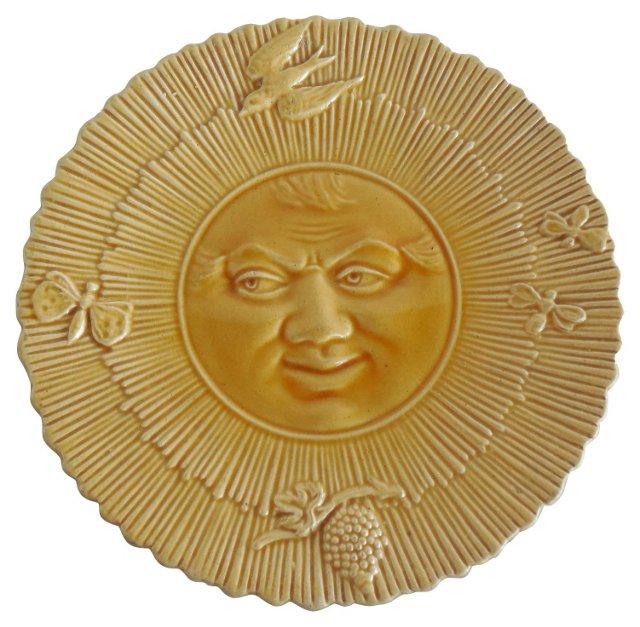 Majolica Sun Wall   Plate