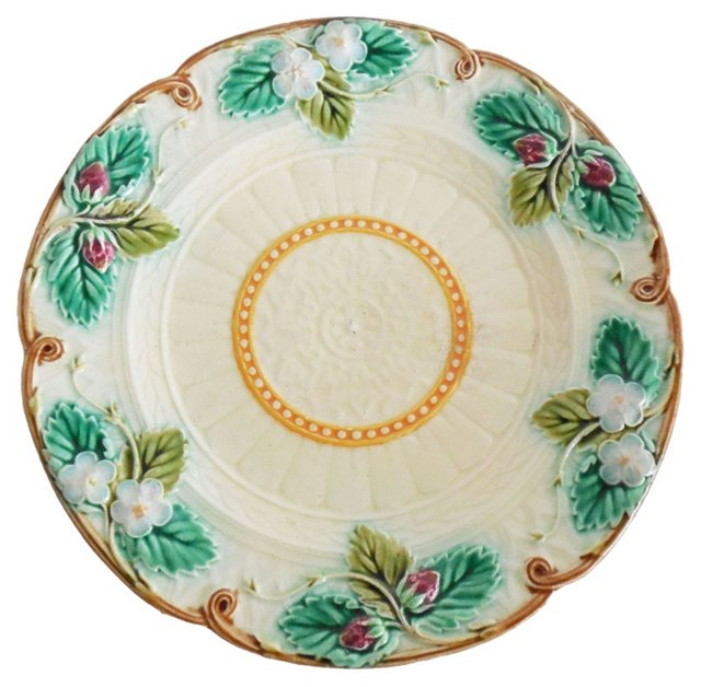 Majolica   Strawberry Wall Plate
