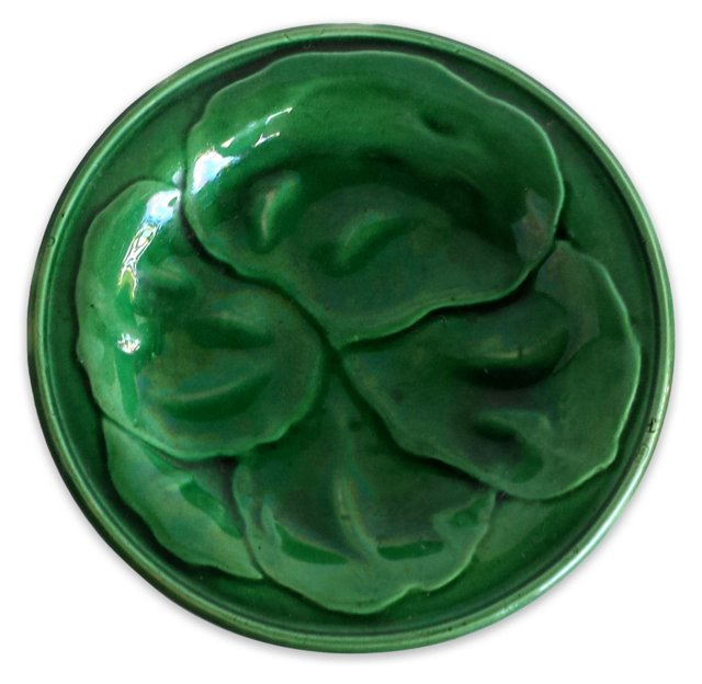 Green Majolica Wall Plate