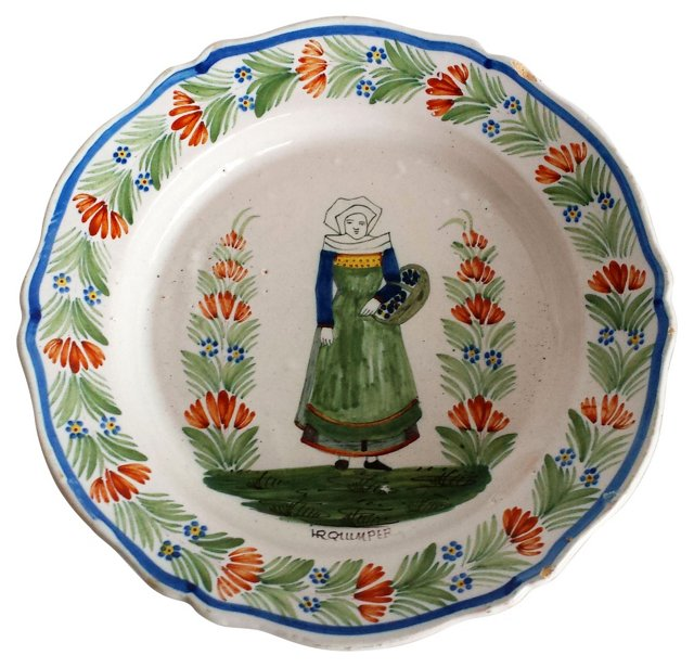 Quimper Faience Wall Plate I
