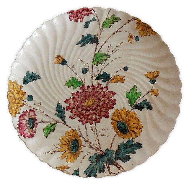English Flowers Wall     Plate