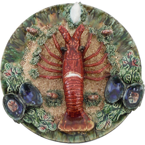 Majolica Lobster Wall Platter