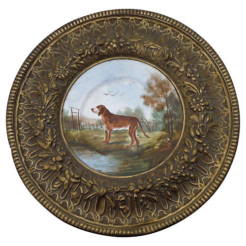 French Dog Wall Plate