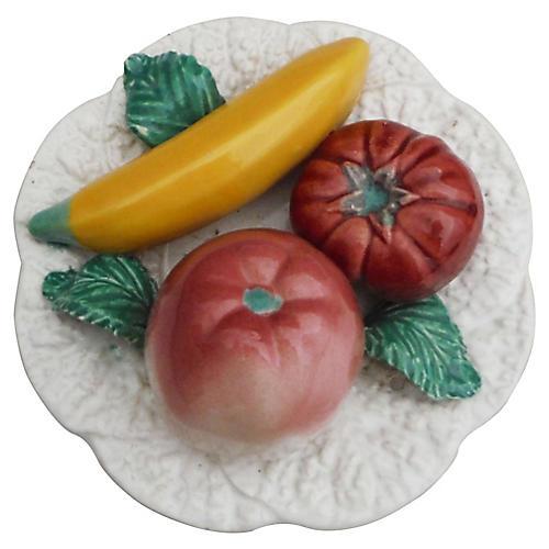 Majolica Fruits Platter