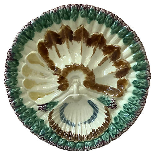 Longchamp Majolica Asparagus Plate