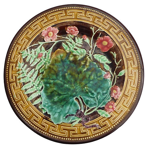 Majolica Leaves Plate Choisy