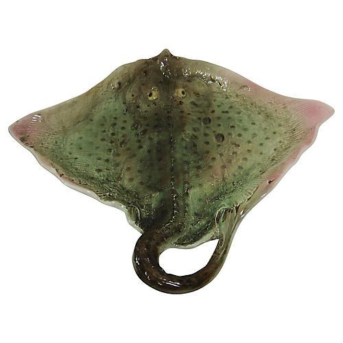 Majolica Ray Fish Platter