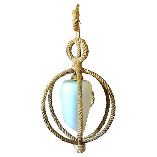 Rope Sconce Sphere Circa 1960