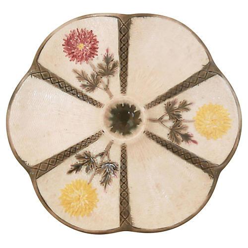 Wedgwood Majolica Oyster Plate