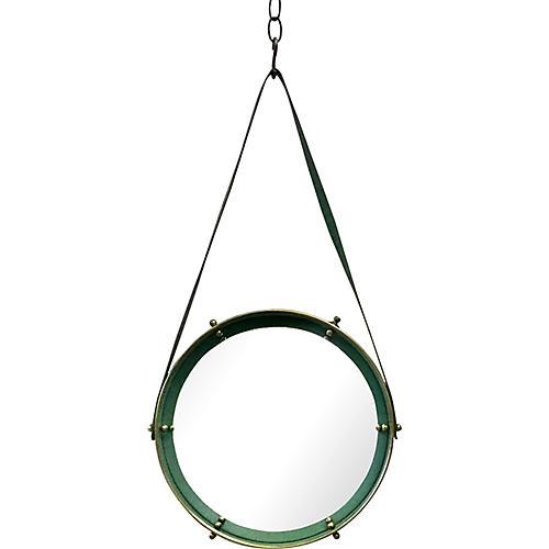 Adnet-Style Round Convex Mirror