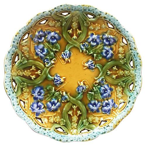 Majolica Violets Plate