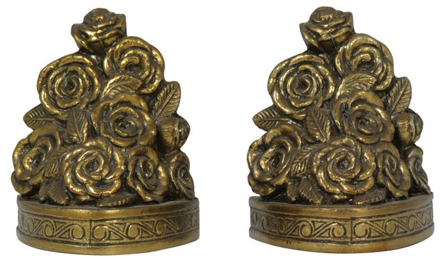 Rose Topiary Bookends