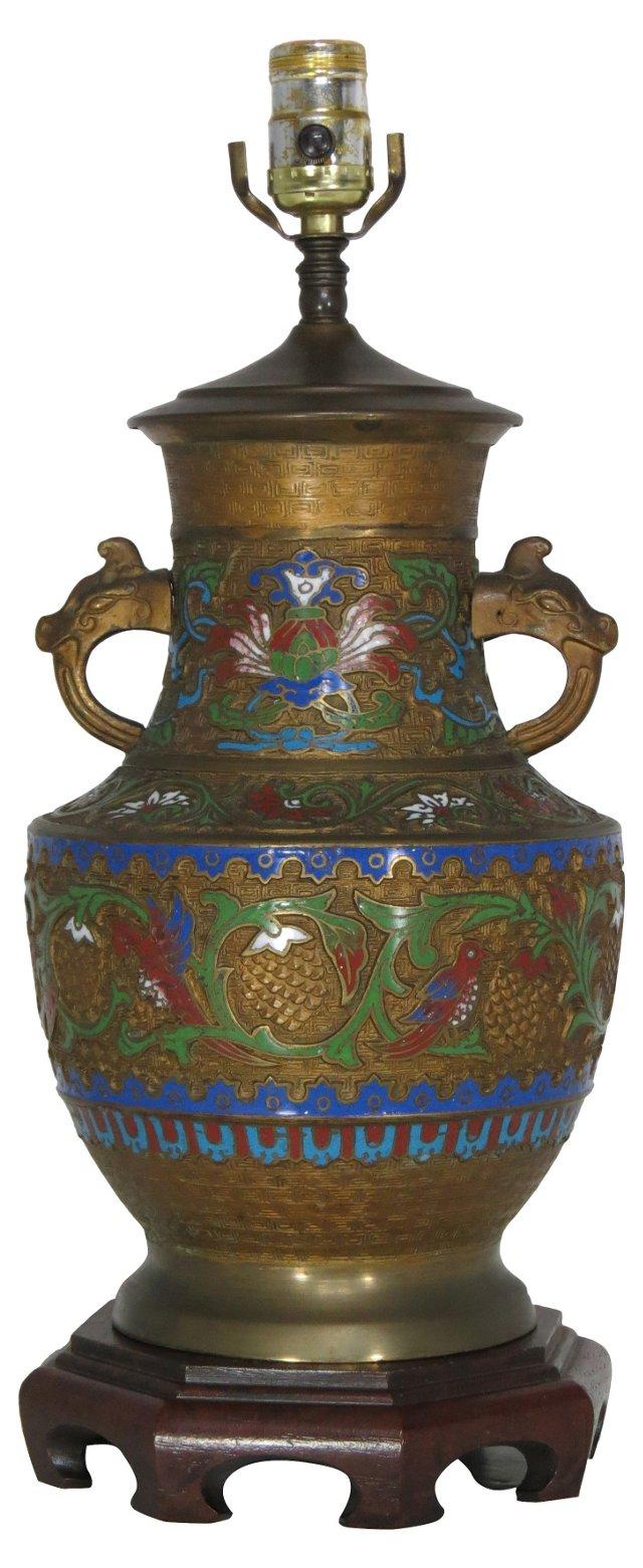 Champleve Bronze Lamp