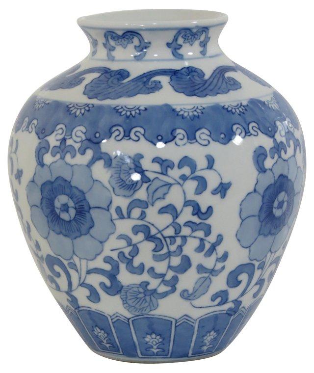 Blue & White Floral Vase