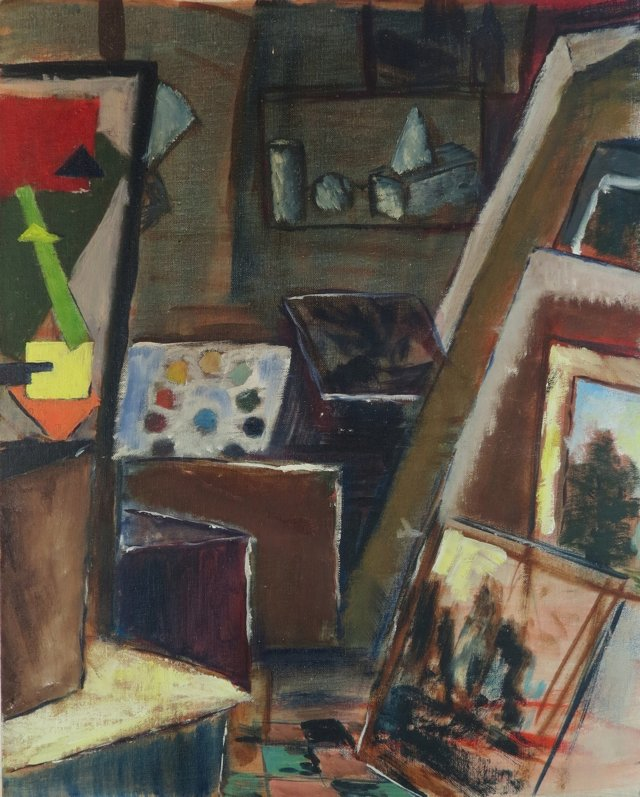 Artist's Studio by Trudy Taylor, 1964