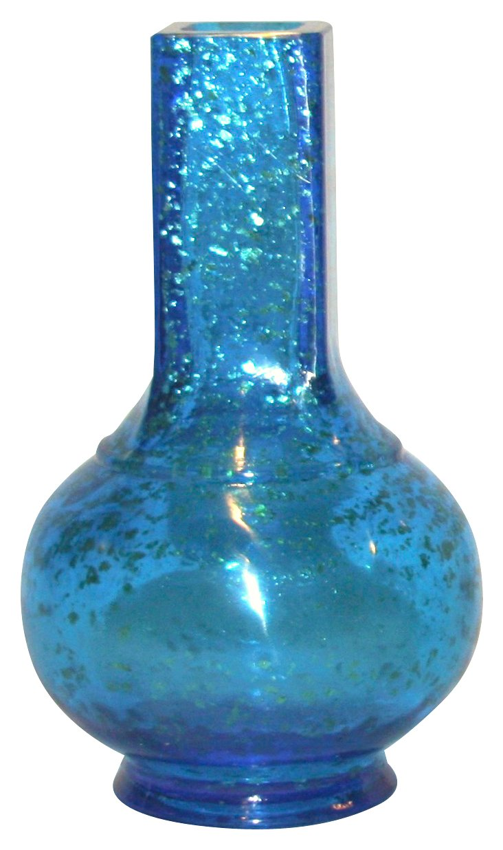 Aventurine Azure Peking Glass Vase