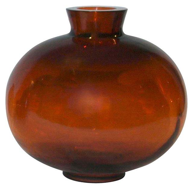 Amber Peking Glass Balon Vase