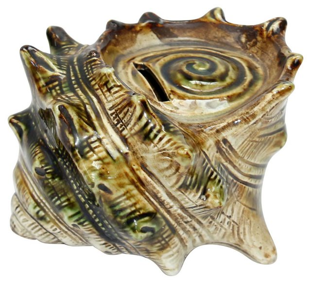 Ceramic Conch Shell Bank