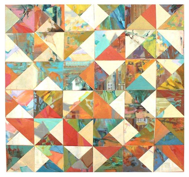 Geometric Oil Painting Mosaic