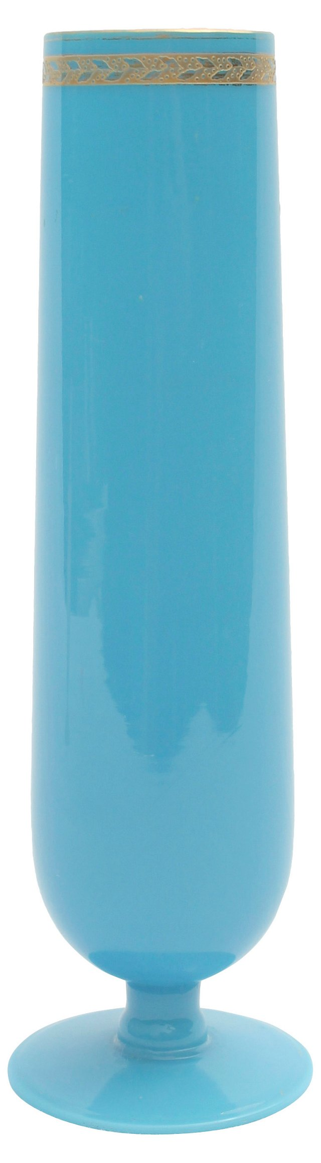 Blue Bristol Glass Vase