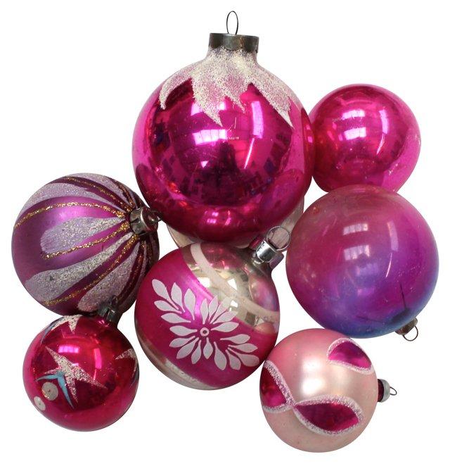Christmas Ornaments,  Set of 7