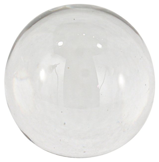 Handblown Crystal Clear Paperweight