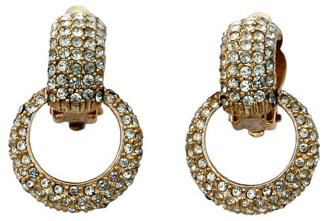 Ciner Pavé Rhinestone Earrings