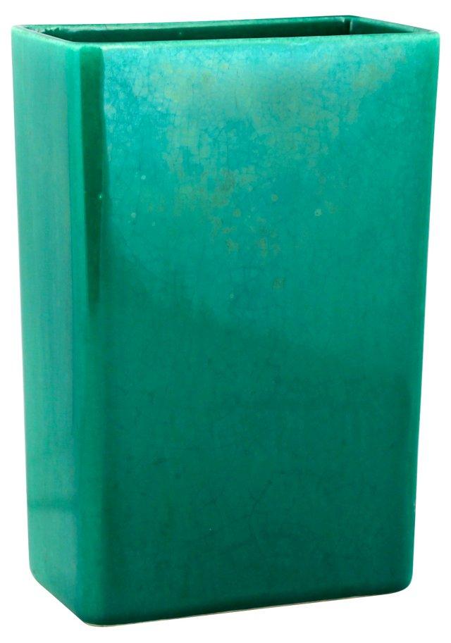 Midcentury Green Ceramic Vase