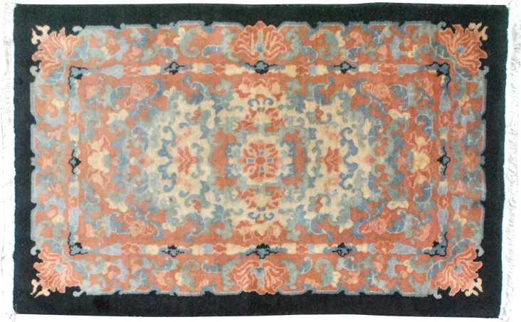"Art Deco Chinese Rug, 4'8"" x 3'"