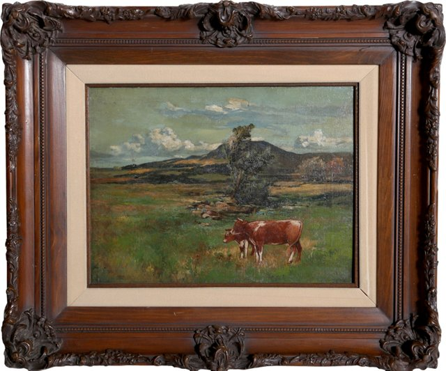 Cows in Pasture by George Miller