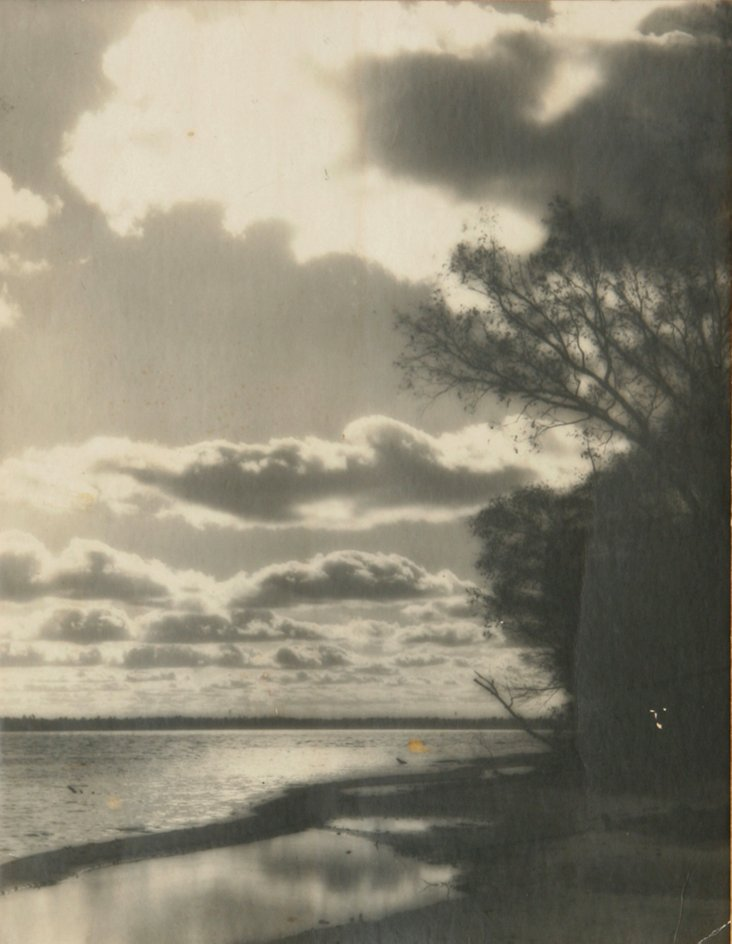 1940s Lakeside w/ Clouds