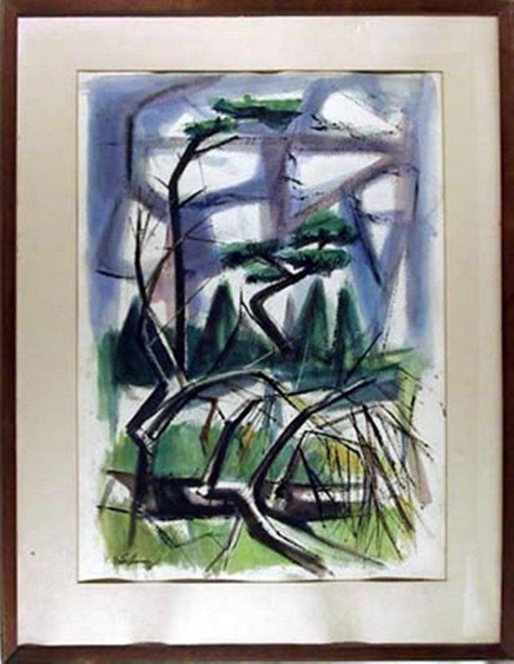 Modern Landscape by Morton Grossman