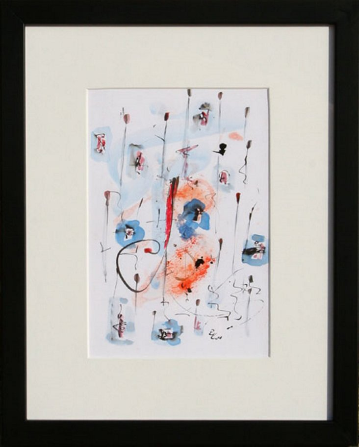 Abstract Watercolor by Robert Kautz
