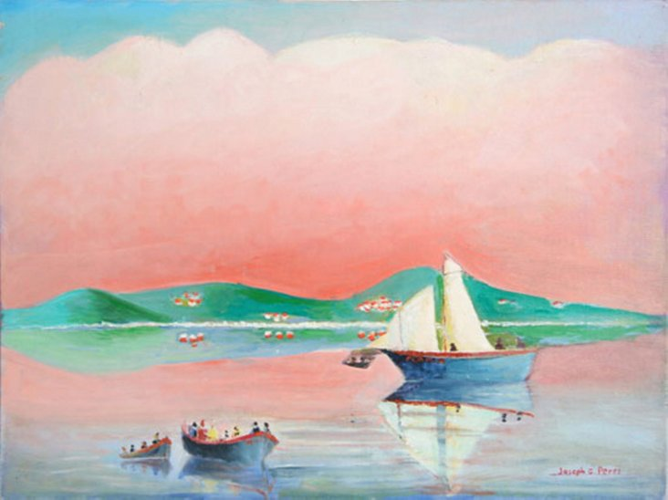Capri and Boats by Perri