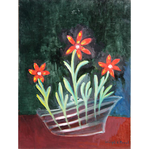 Red Daisies by Perri