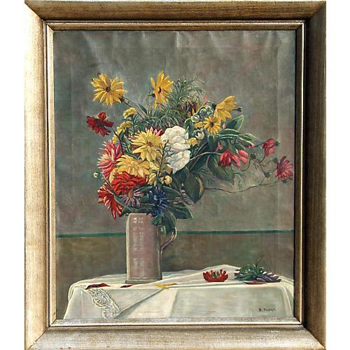 Blumenstrauss in Vase by Probst
