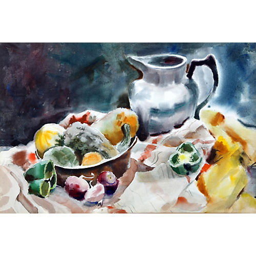 Pitcher with Vegetables by Nethercott