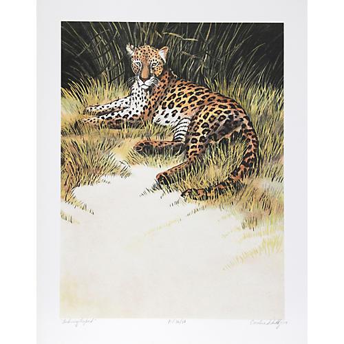 Relaxing Leopard by Caroline Schultz