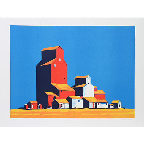 Wheatbelt Serigraph by Patricia Sussman