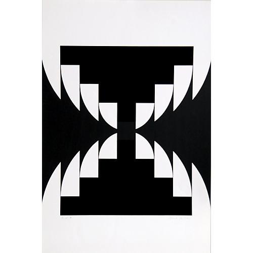 Komposition I Serigraph by Imre Kocsis