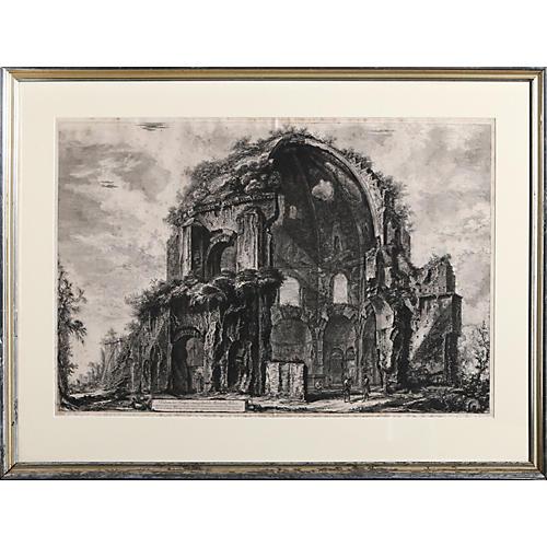 Veduto del Tempio ottangolare di Minerva